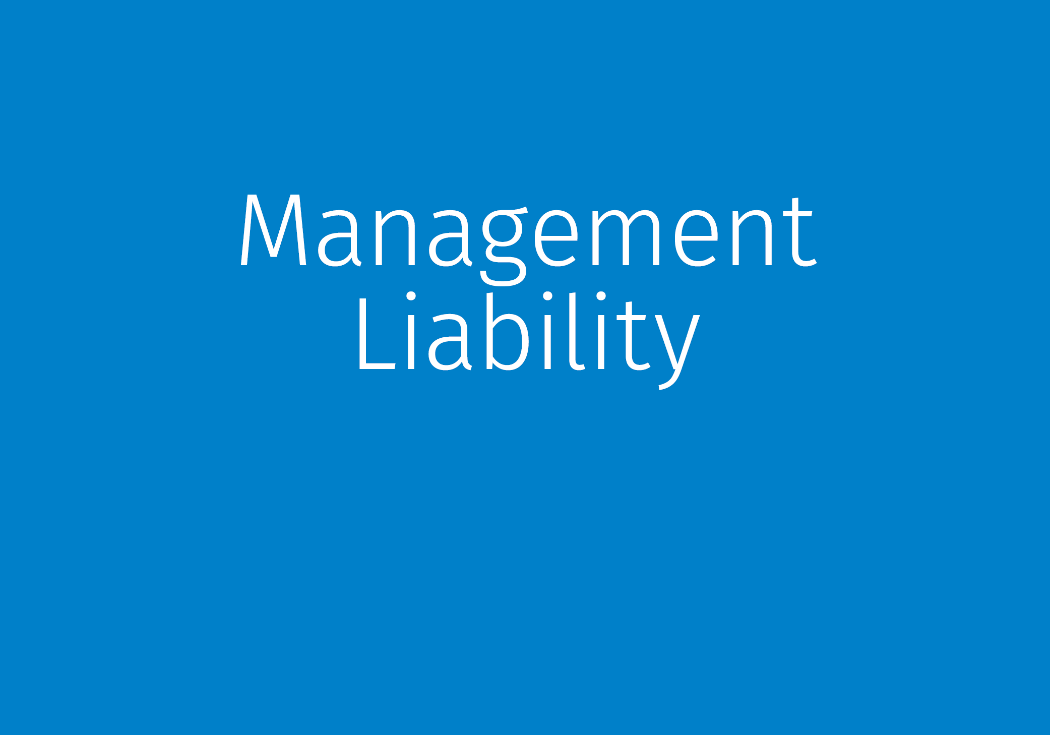 Management Liability Product Offerings